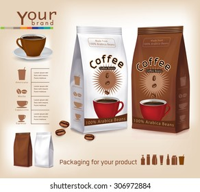Pack of coffee vector