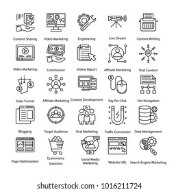 Pack of Colored Internet and Digital Marketing icons