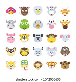 Pack Of Domestic and Animals Flat Vectors