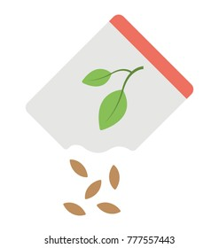 A pack full of seeds of a specific plant