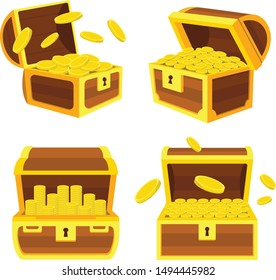 A pack with illustrations of 4 treasure chests