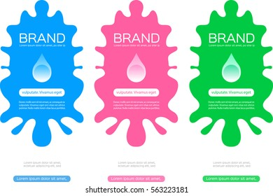 pack label vector for skin care or cosmetic foam lotion collagen shampoo