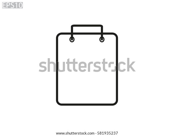 package bag, icon, vector illustration eps10