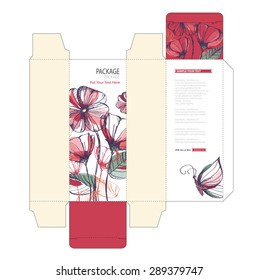 Package box design vector illustration