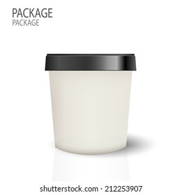 Package cup ice cream design vector illustration
