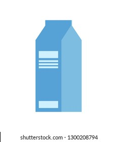 Package of milk vector isolated icon. Dairy product in paper pack, template of packaging of healthy organic product, natural food, kefir or yogurt