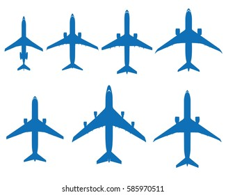 Package silhouettes of real airplanes, one series