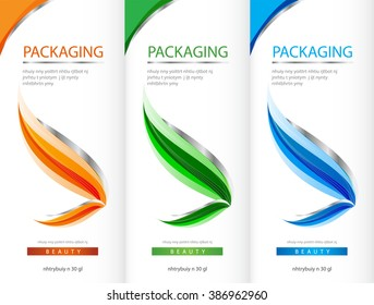 Package template box design vector illustration