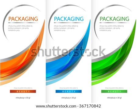package template box design vector illustration のベクター画像素材