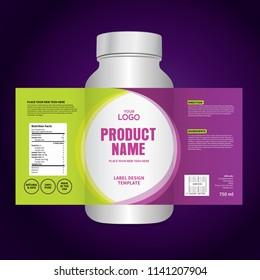 Package template design, Label design, mock up design label template