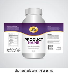 Package template design, Label design, mock up design label template