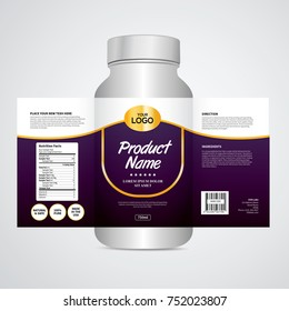 Package template design, Label design, Mock up design label
