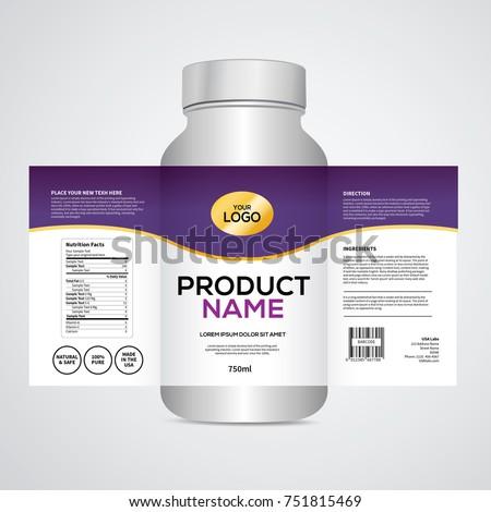 package template design label design mock のベクター画像素材