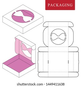 Package template.Vector Illustration of celebration box.