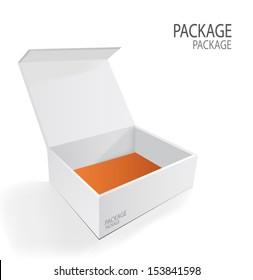 Package white box design 2, vector illustration