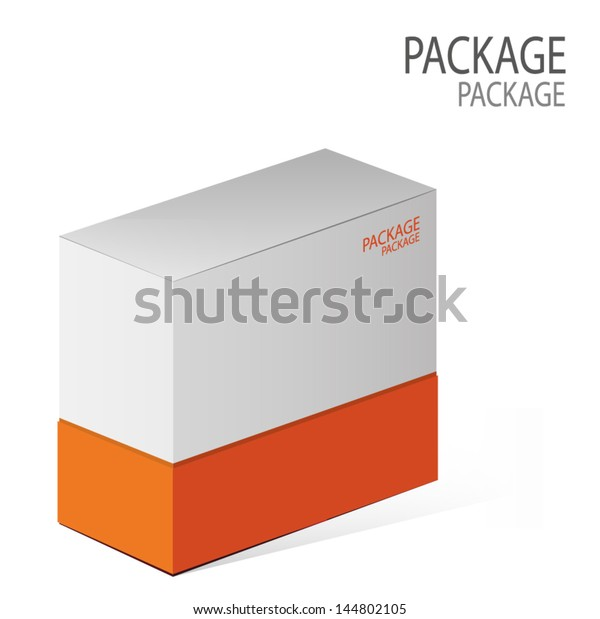 Package White Box Design 2 Vector Stock Vector (Royalty Free) 144802105
