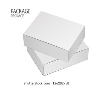 Package white canned design, vector illustration