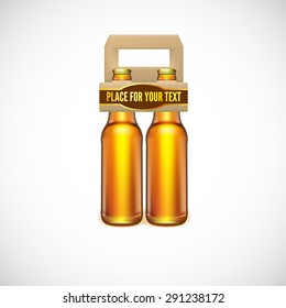 Packaging of beer, isolated on white background. Vector illustration for your business