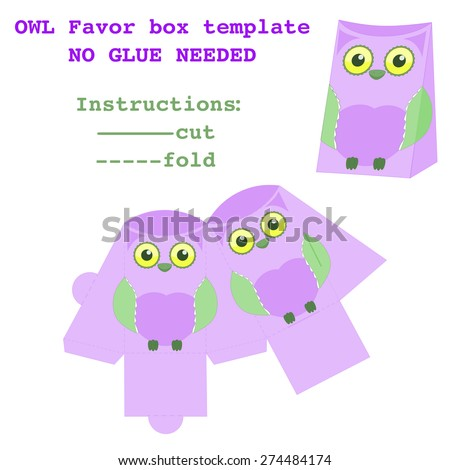 Packaging Box Design Favor Box Template Stock Vector Royalty Free