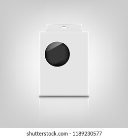 Packaging box with reflect on gray background, stock vector
