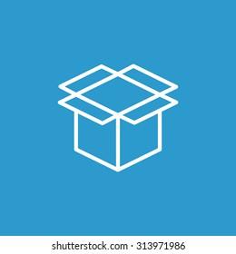 packaging cardboard box icon