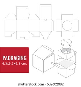 packaging for cosmetic or skincare product.Side 6.3*6.3*6.3 cm.