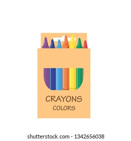 packaging with crayons vector