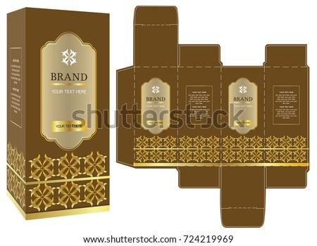 packaging design gold luxury box design のベクター画像素材