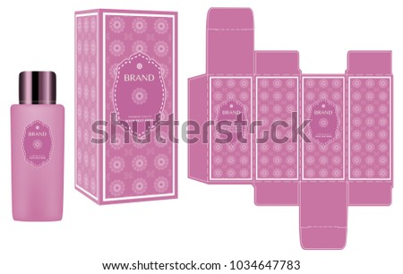 packaging design label on pink cosmetic stock vector royalty free
