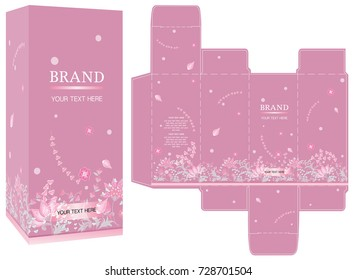 packaging design pink cosmetic liquid on stock vector royalty free