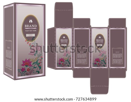 packaging design luxury box design template stock vector royalty