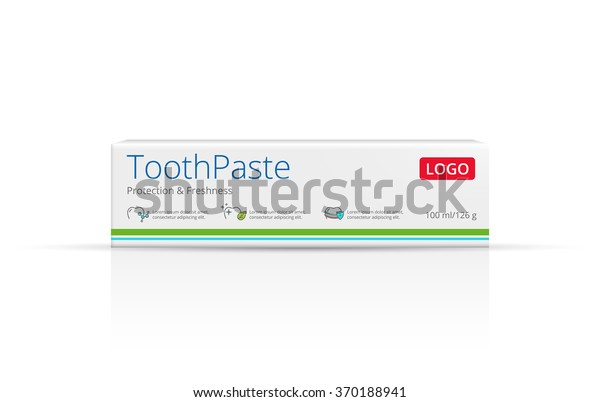 Packaging Design Toothpaste Vector Template Box Stock Vector Royalty Free 370188941