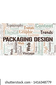 Packaging Design word cloud. Wordcloud made with text only.