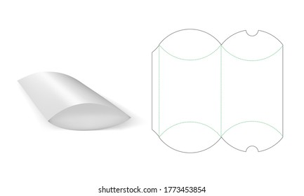 Packaging Fast Food Box Die Cut Template With Realistic 3D Preview. EPS10 Vector