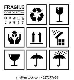 Packaging / fragile icons collection