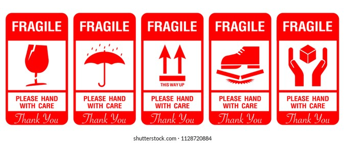 photograph regarding Fragile Glass Labels Printable named Delicate Illustrations or photos, Inventory Pictures Vectors Shutterstock