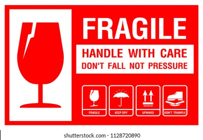 picture regarding Printable Fragile Label referred to as Delicate Shots, Inventory Images Vectors Shutterstock