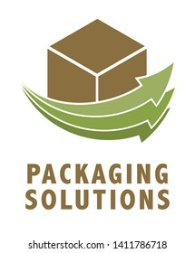 packaging logo green style recycle