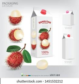 Packaging rambutan juice drink .illustration