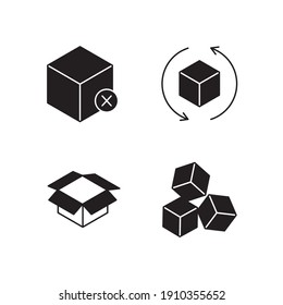 Packaging set icon, isolated Packaging set sign icon, vector illustration