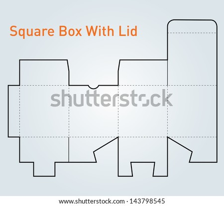 Packaging Square Box Lid Template Vector Stock Vector (Royalty Free ...