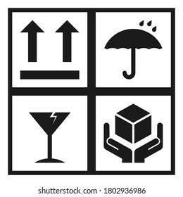 Packaging Symbols icon vector design