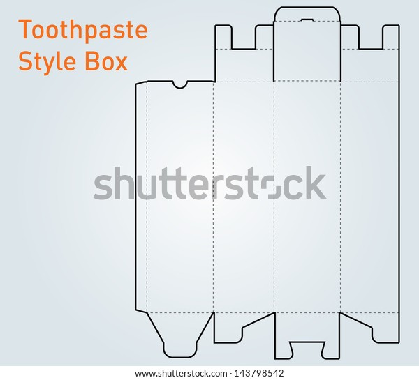 Packaging Toothpaste Style Box Template Vector Stock Vector Royalty Free 143798542