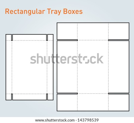 packaging tray box template vector stock vector royalty free