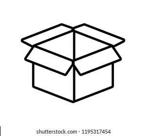 packing box carton icon