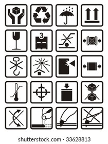 Packing & Shipping icons set