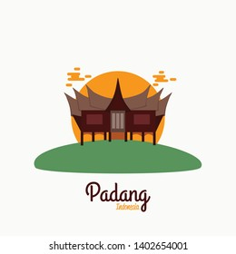 Padang West Sumatra Indonesia Vector illustration