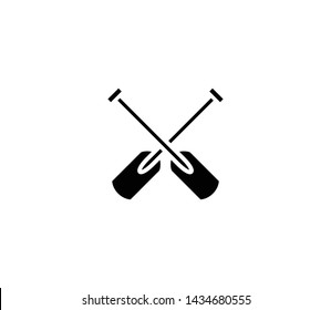 Paddles vector isolated flat illustration. Paddles icon