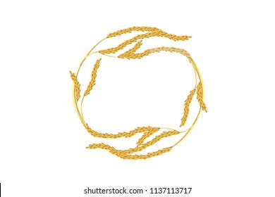 paddy rice wheat malt barley japan poster display symbol design