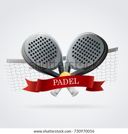 Padel Logo Racket Black White Red Stock Vector (Royalty Free ... 220d9a9094bfb